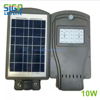 All in one solar security light 10W
