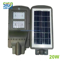 All in one solar security light 20W