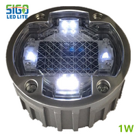 Solar powered 2/4 sides LED spike lights for roads.